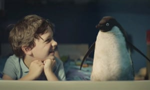 John Lewis's 2014 Christmas commercial tells the story of the friendship between Sam and Monty the penguin.