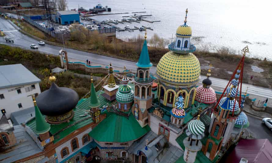 Temple of all religions by the Volga in the city of Kazan