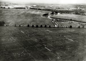 Football pitches on Hackney Marshes
