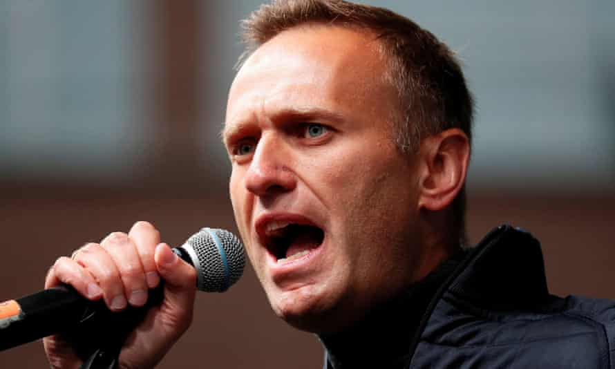 The Russian opposition leader Alexei Navalny