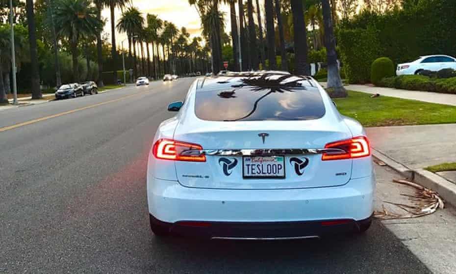 Tesla on LA street