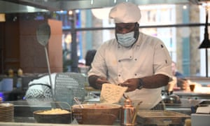 A chef in Covent Garden, London