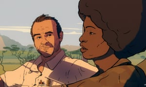 Kapuściński and Carlotta in the animated sequences.