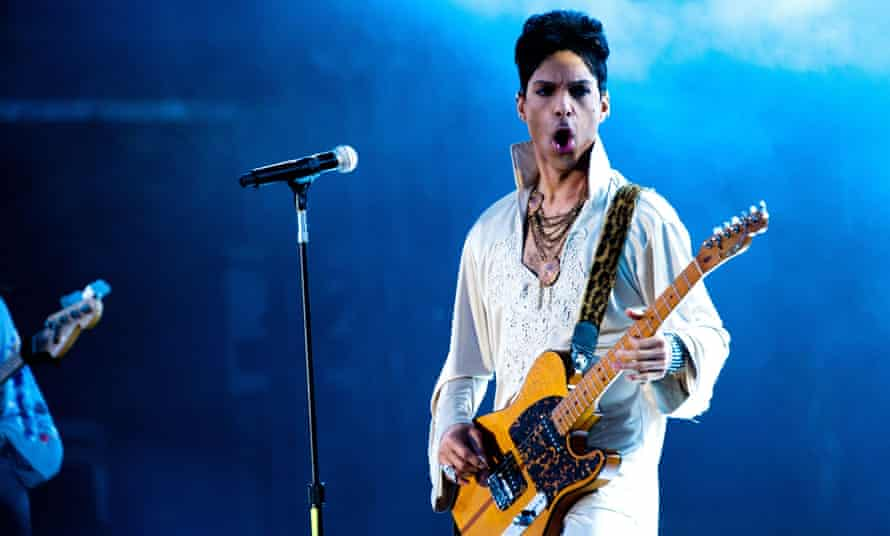 The musician Prince performing live
