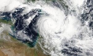 satellite image of Cyclone Trevor