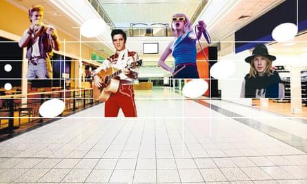 Wonder mall... Morten Harket  of A-ha; Elvis Presley; Hayley Williams of Paramore and Beck.