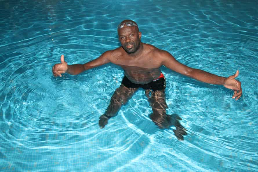 Ed Accura, who produced and stars in Black Can't Swim: the Sequel
