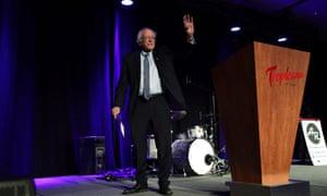 Bernie Sanders speaks at the Clark county Democrats Kick Off to Caucus Gala at Tropicana Las Vegas last week.