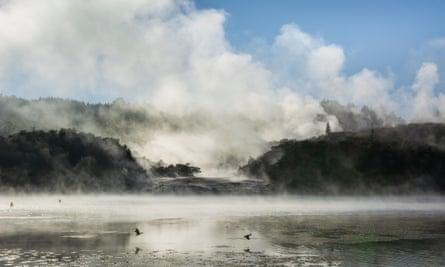 New Zealand's hot springs at Lake Taupo.