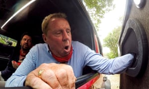 Harry Redknapp feels around for tokens in mystery boxes under the supervision of DIY SOS's Nick Knowles as part of I'm a Celebrity's Hell Holes challenge.