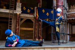 Jonathan Broadbent and Sophie Russell in Henry V or Harry England