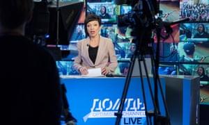 Dozhd TV anchorwoman Maria Makeyeva in Moscow, 2014.