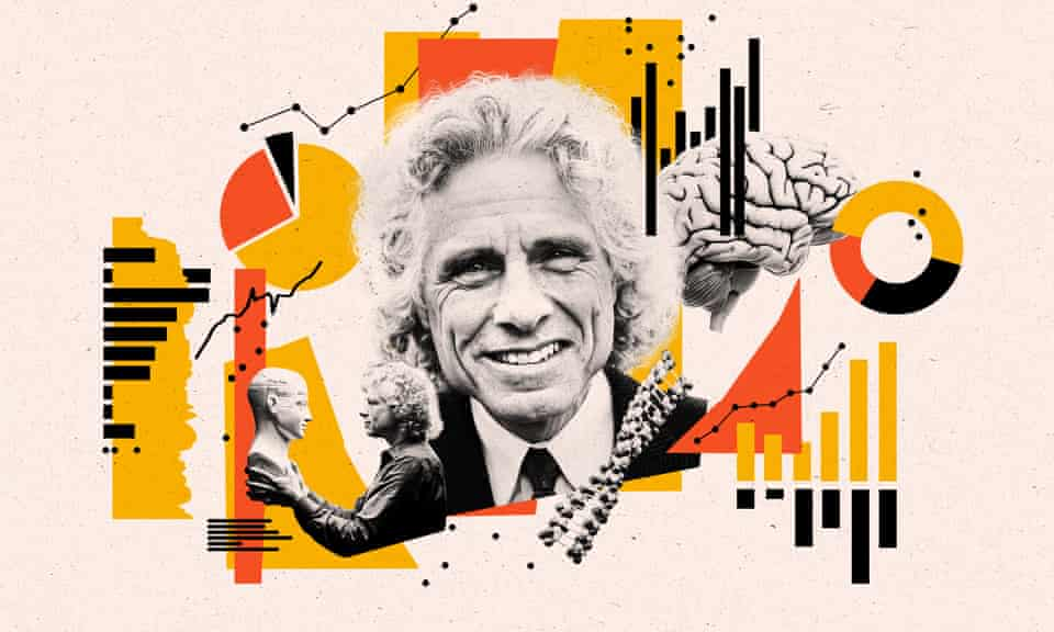 collage for long read profile of steven pinker