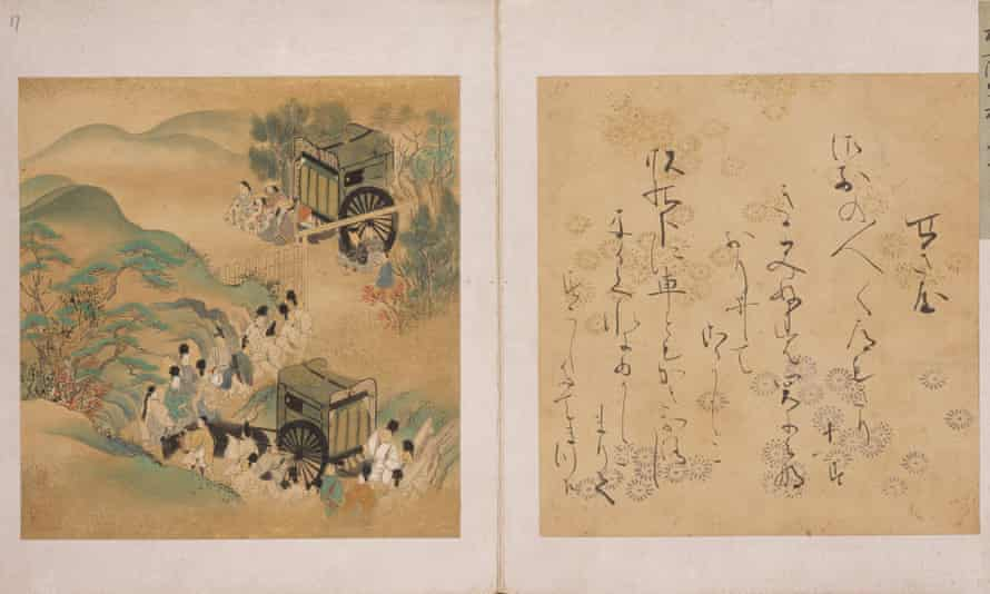 An illustrated edition of The Tale of Genji, produced between 1640-1680.