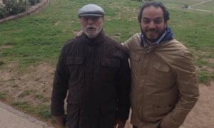 Ali Dabaiba, left, with his son Osama.