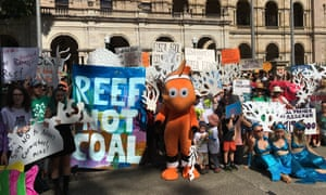 Protesters in Queensland earlier this year. Activists have given Australia a booby-prize for lobbying for the Carmichael mine at an international summit to tackle climate change.