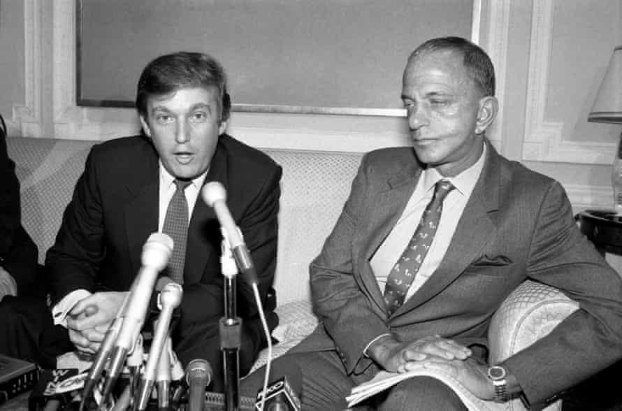 Donald Trump and Roy Cohn.