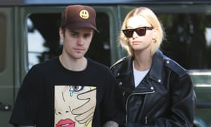 Justin Bieber and Hailey Bieber in Los Angeles