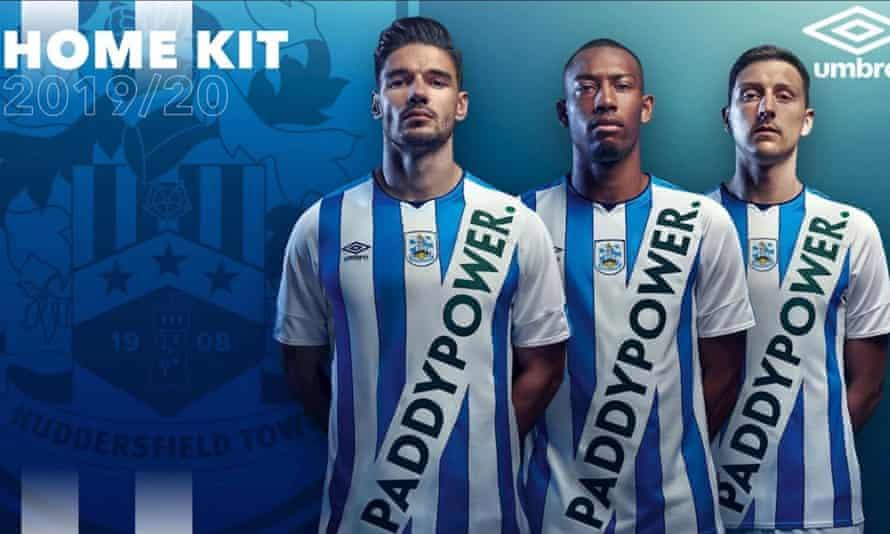 Paddy Power's Huddersfield Town shirts