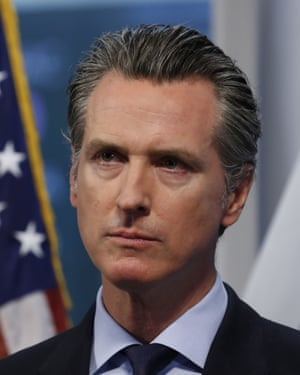 Gavin NewsomCalifornia Gov. Gavin Newsom listens to a reporter's question during his daily news briefing at the Governor's Office of Emergency Services in Rancho Cordova, Calif. Thursday, April 9, 2020. Newsom announced that California saw its first daily decrease in intensive care hospitalizations during the coronavirus outbreak, a key indicator of how many health care workers and medical supplies are needed. He went on to say the state's hospitals have thousands of ventilators available should the number of the sickest patients suddenly surge. (AP Photo/Rich Pedroncelli, Pool)