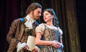 Too lewd for prudes … Dominic Cooper and Ophelia Lovibond in Stephen Jeffreys' The Libertine.