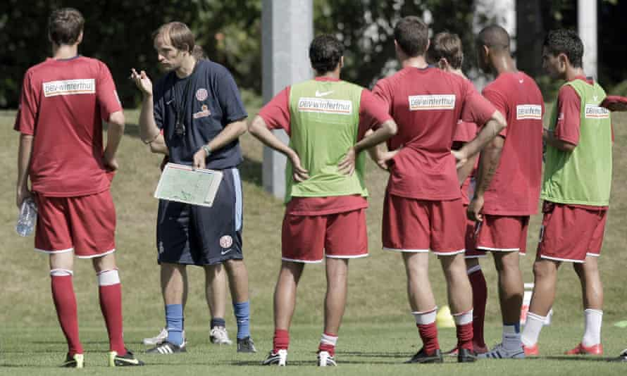 Thomas Tuchel at training with Mainz in 2009.