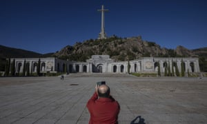The Valley of the Fallen mausoleum near El Escorial, on the outskirts of Madrid.