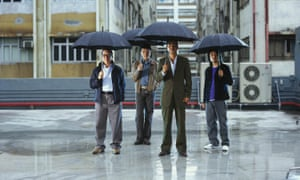 four men feature in Umbrella action sequence in Sparrow