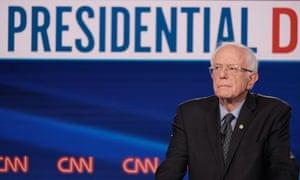 Bernie Sanders at the Democratic debate on Sunday.