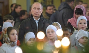 Putin at midnight mass