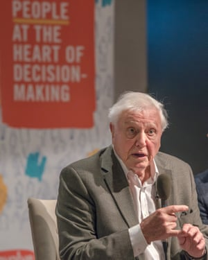 Sir David Attenborough addresses the Climate Assembly UK in January this year.