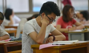 A Chinese child takes the Gaokao