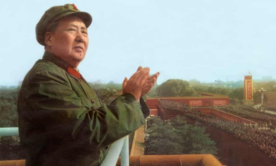 Mao Zedong reviews the army of the Great Proletarian Cultural Revolution in 1967.