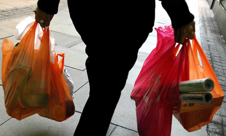 In Wales consumers are now charged a minimum of 5p per plastic bag.