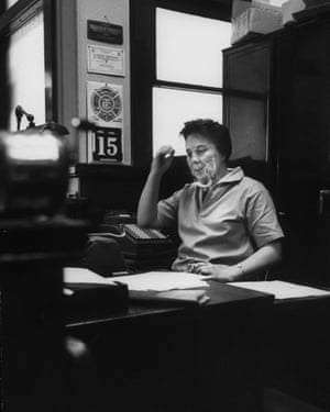 Harper Lee in her father's law office in 1961.