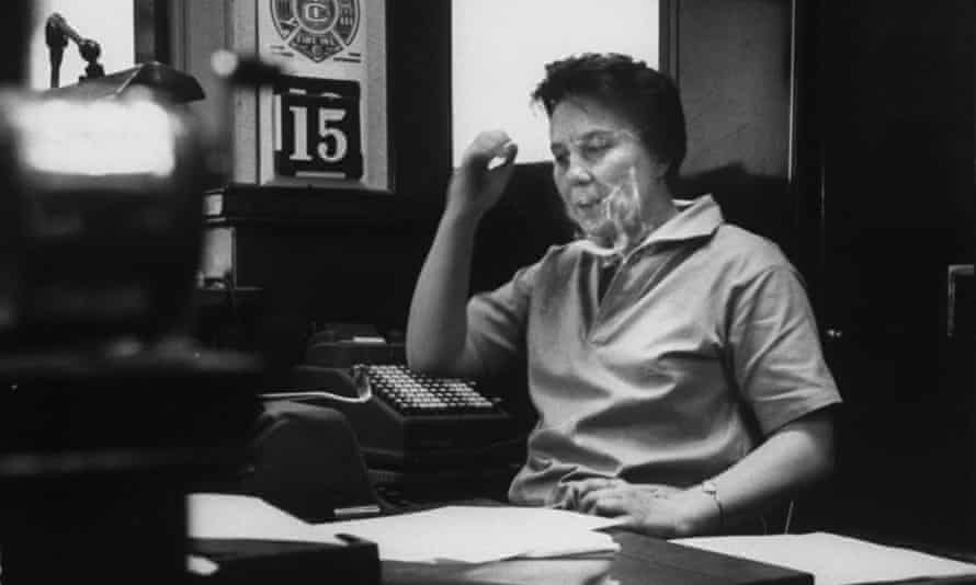 Harper Lee, pictured in her father's law office.