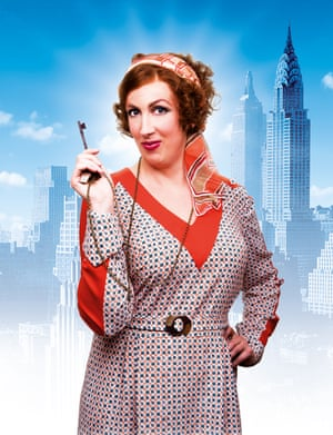 Miranda Hart as Miss Hannigan in Annie, which is showing at Piccadilly theatre, central London.