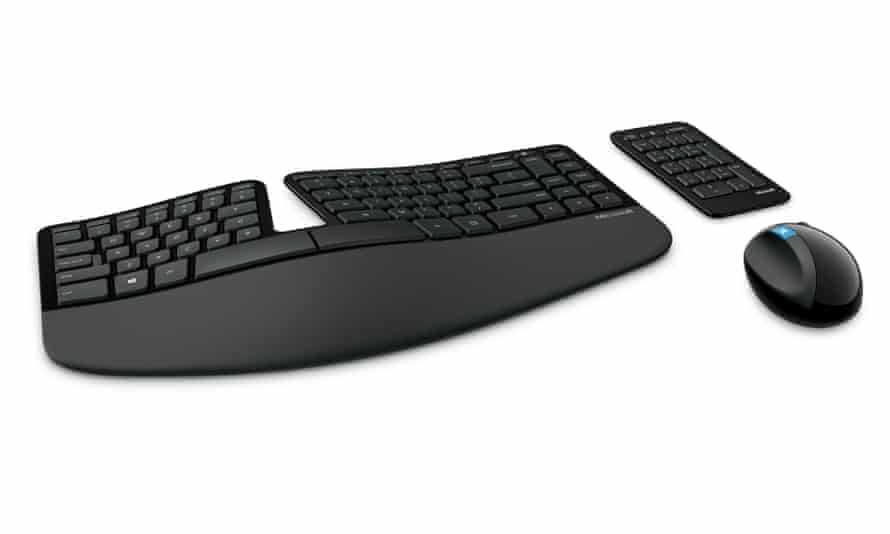 Microsoft's Sculpt keyboard is one of the best general ergonomic options.