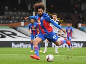 Crystal Palace's Jairo Riedewald slams home the Eagles' opener.