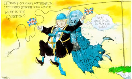 Boris Johnson and the ghost of Margaret Thatcher – cartoon