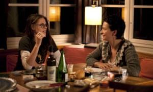 Stewart and Juliette Binoche in 2014's Clouds of Sils Maria, directed by Olivier Assayas