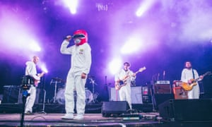 Super Furry Animals perform in 2016 at Festival No. 6 in Portmeirion, Wales.