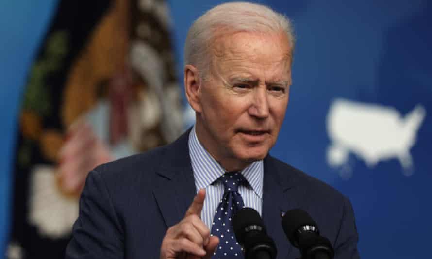 Joe Biden speaking in Washington