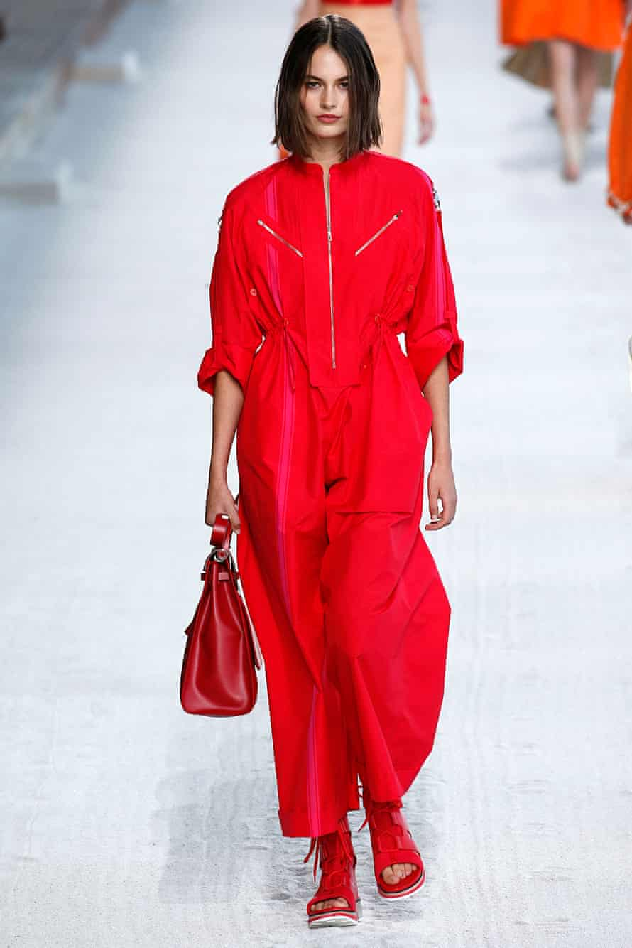 A boilersuit by Hermes, Paris fashion week SS19.