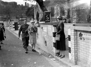 Wartime wedding. The reception was held in the air raid shelter