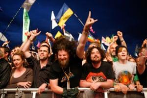 Metallica fans at Glastonbury in 2014