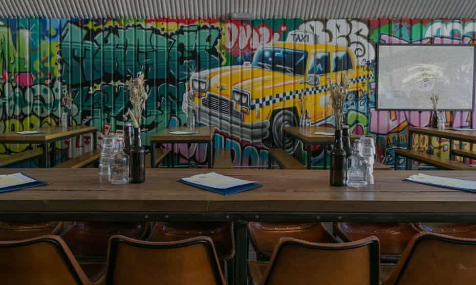 New York taxi wall art, Mother Kellys Bethnal Green