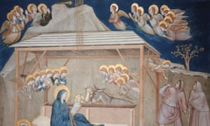 Nativity by Giotto Di Bondone, Lower Basilica of St Francis in Assisi, circa 1310.