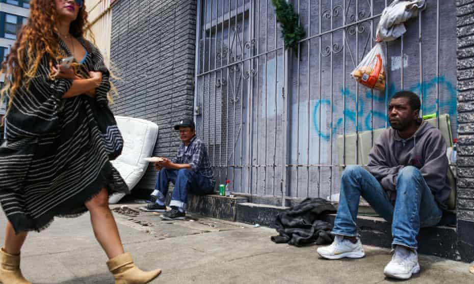 Homeless people in the Tenderloin district of San Francisco,  June 2016