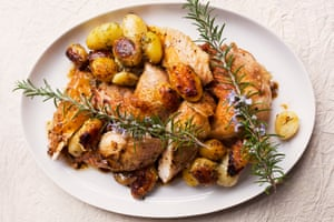 Roast chicken, new potato and tarragon stuffing.